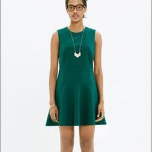 Madewell 'Anywhere' fit and flare green dress 12